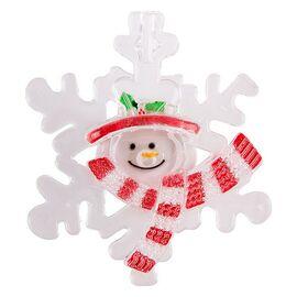 Панно световое [9x8 см] Снежинка со снеговиком 501-021   интернет-магазин SHOWROOMS