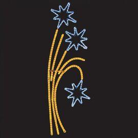 Панно световое (1.75x0.85 м) Звездный фейерверк 501-336   интернет-магазин SHOWROOMS