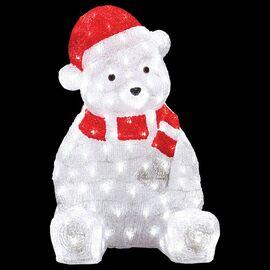 Зверь световой (56 см) Медвежонок в красном колпаке 513-240 | интернет-магазин SHOWROOMS
