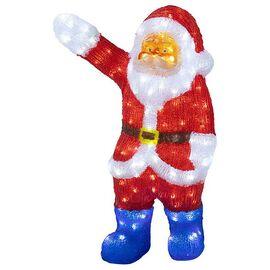 Дед Мороз световой (60 см) Санта Клаус приветствует 513-272 | интернет-магазин SHOWROOMS