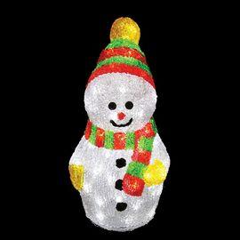 Снеговик световой (30 см) с шарфом 513-275 | интернет-магазин SHOWROOMS